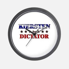 KIERSTEN for dictator Wall Clock