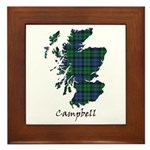Map - Campbell Framed Tile