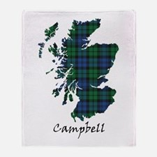 Map - Campbell Throw Blanket
