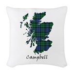 Map - Campbell Woven Throw Pillow
