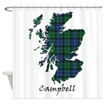 Map - Campbell Shower Curtain