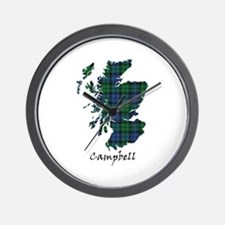 Map - Campbell Wall Clock