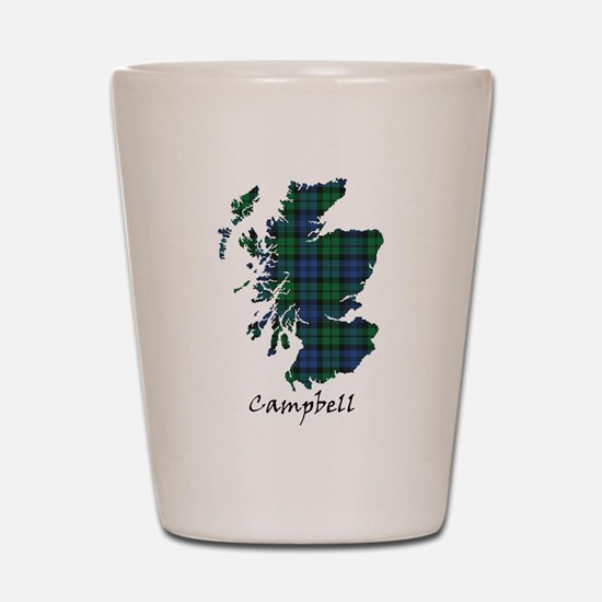 Map - Campbell Shot Glass
