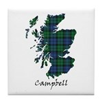 Map - Campbell Tile Coaster