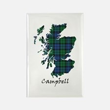 Map - Campbell Rectangle Magnet