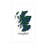 Map - Campbell Sticker (Rectangle 10 pk)