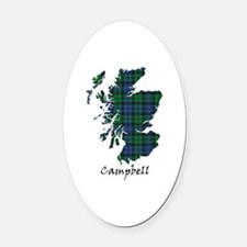 Map - Campbell Oval Car Magnet