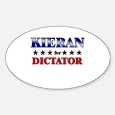 KIERAN for dictator Oval Decal