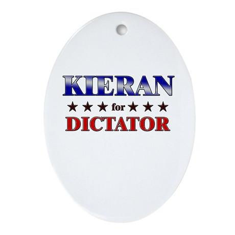 KIERAN for dictator Oval Ornament