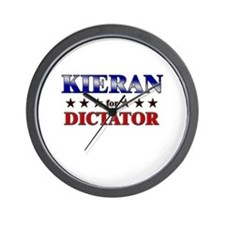 KIERAN for dictator Wall Clock