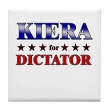 KIERA for dictator Tile Coaster
