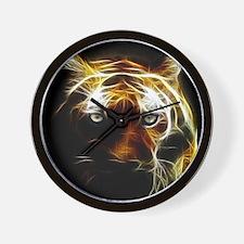 Glow Tiger Wall Clock