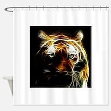 Glow Tiger Shower Curtain