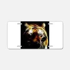 Glow Tiger Aluminum License Plate