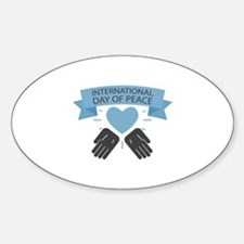 Day Of Peace Sticker (Oval)