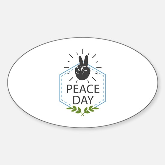 Peace Day Sticker (Oval)