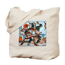 Beowulf and Grendel Tote Bag