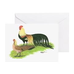Golden Phoenix Bantams Greeting Card