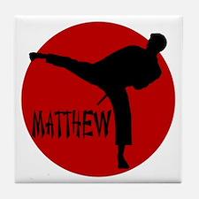 Matthew Martial Artist Tile Coaster
