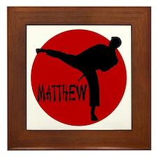 Matthew Martial Artist Framed Tile