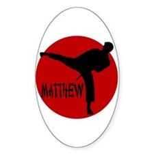 Matthew Martial Artist Oval Decal
