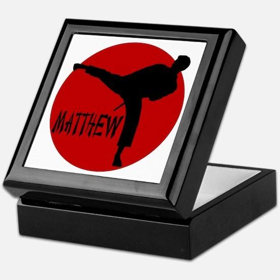 Matthew Martial Artist Keepsake Box