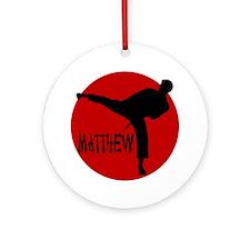 Matthew Martial Artist Ornament (Round)