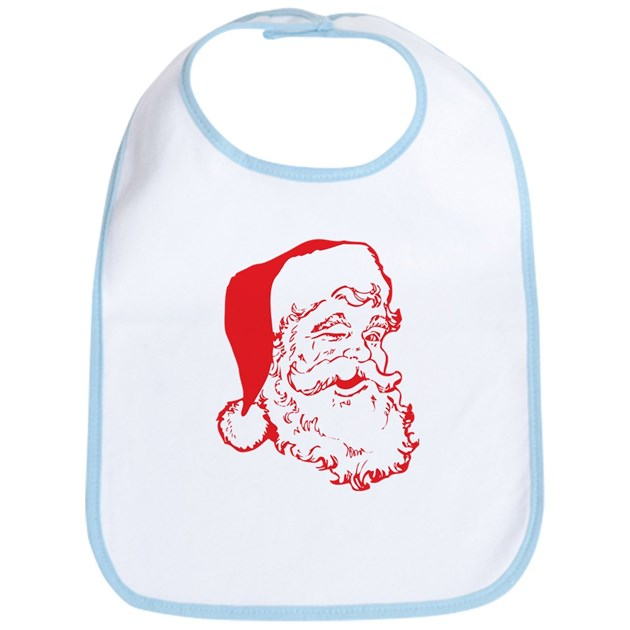 Santa claus clip art bi cotton baby bib