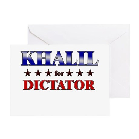 KHALIL for dictator Greeting Card