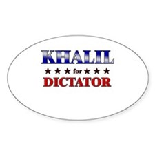 KHALIL for dictator Oval Decal