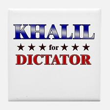 KHALIL for dictator Tile Coaster