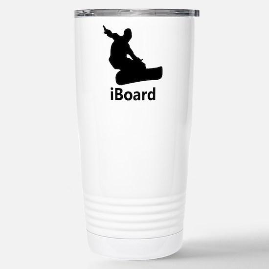 iBoard Snowboarding Stainless Steel Travel Mug