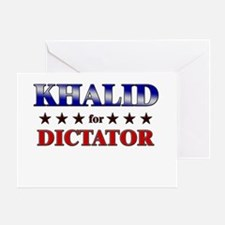 KHALID for dictator Greeting Card