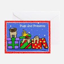 Pugs Love Christmas Presents Greeting Cards (Pk of