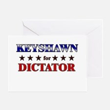 KEYSHAWN for dictator Greeting Card