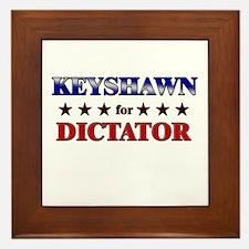 KEYSHAWN for dictator Framed Tile