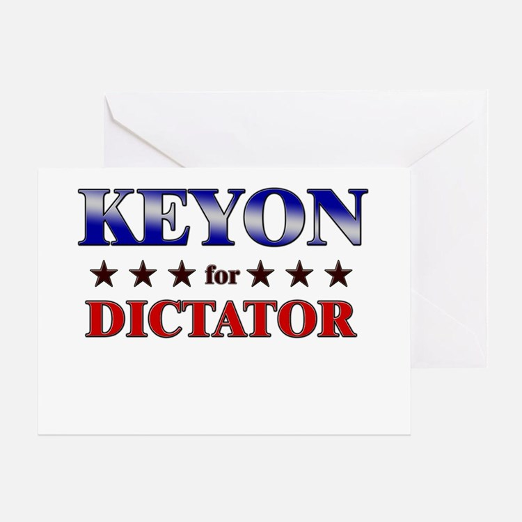 KEYON for dictator Greeting Card