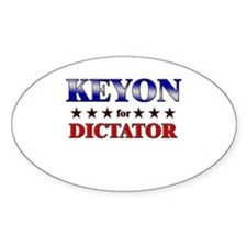 KEYON for dictator Oval Decal