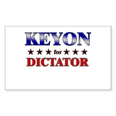 KEYON for dictator Rectangle Sticker