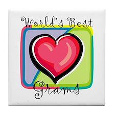 """""""World's Best Grams"""" Tile Coaster"""