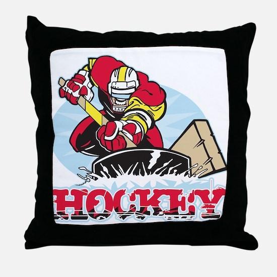 Hockey Player Throw Pillow