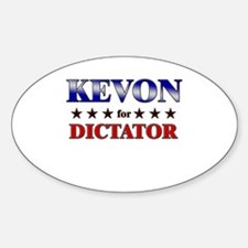 KEVON for dictator Oval Decal