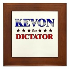 KEVON for dictator Framed Tile