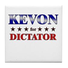 KEVON for dictator Tile Coaster