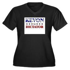 KEVON for dictator Women's Plus Size V-Neck Dark T
