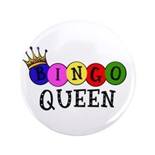 "Bingo Queen 3.5"" Button (100 pack)"