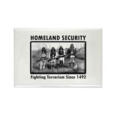 Homeland Security Indians Rectangle Magnet