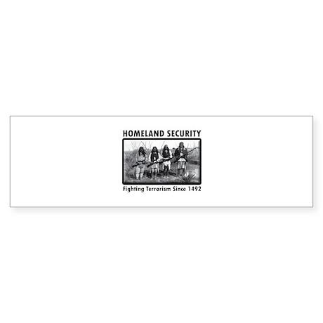 Homeland Security Indians Bumper Sticker
