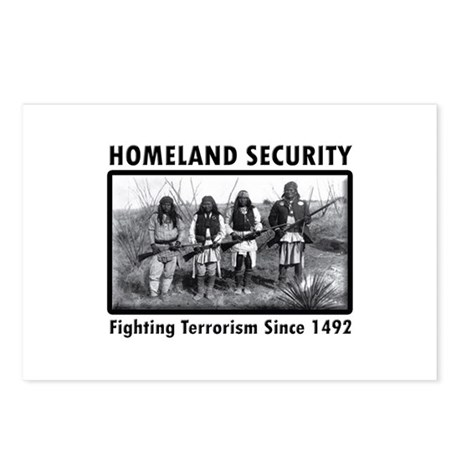 Homeland Security Indians Postcards (Package of 8)