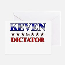 KEVEN for dictator Greeting Card